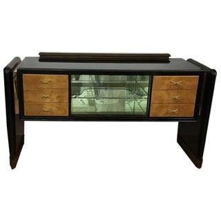 1930s Italian Art Deco Wood Sideboard For Sale