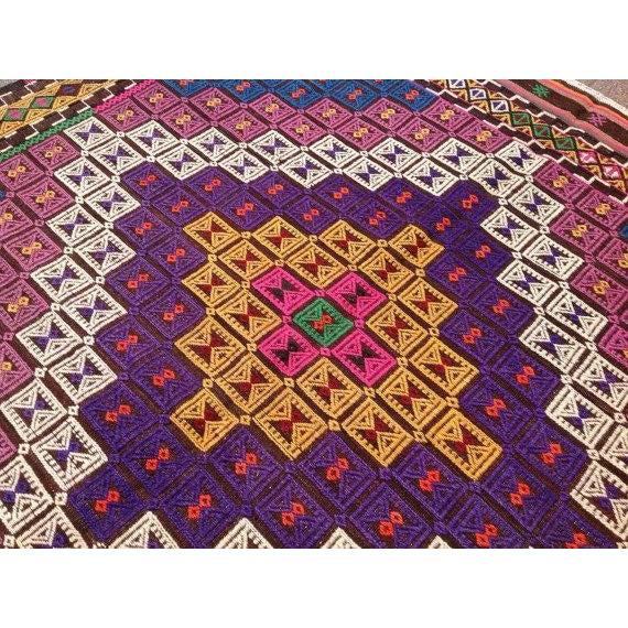 Vintage Turkish Kilim Rug - Image 5 of 6