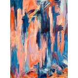 "Image of ""Meet Me at the River"" Contemporary Abstract Expressionist Oil Painting by Monica Shulman For Sale"