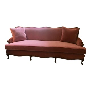 1960s Vintage Queen Anne Purple/Pink Couch For Sale