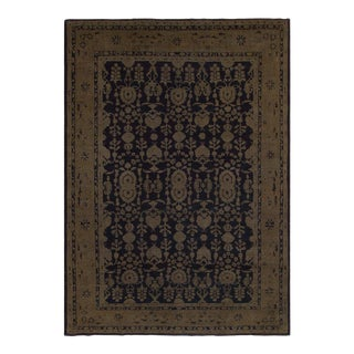 Vintage Distressed Over Dyed Color Reform Minta Drk. Blue/Charcoal Wool Rug -8'5 X 11'11