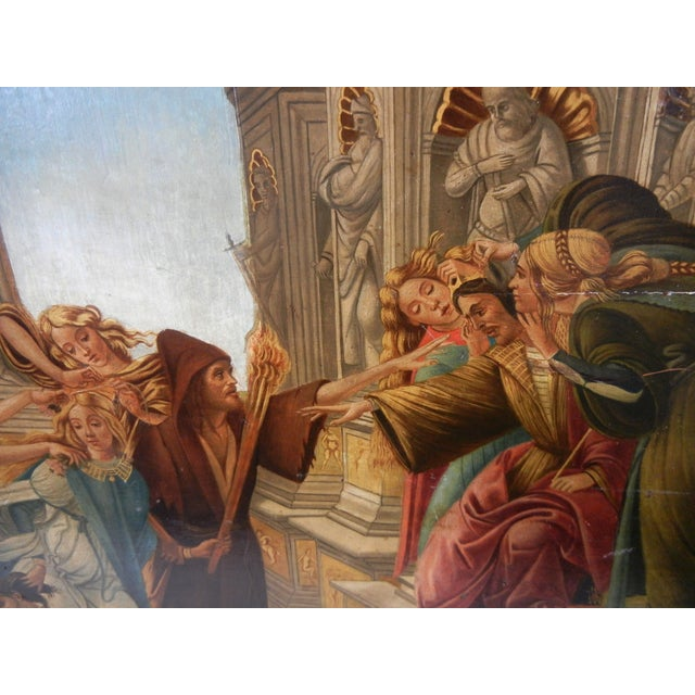 18th Century Antique Italian Renaissance Calumny of Apelles After Sandro Botticelli Print For Sale In Los Angeles - Image 6 of 13