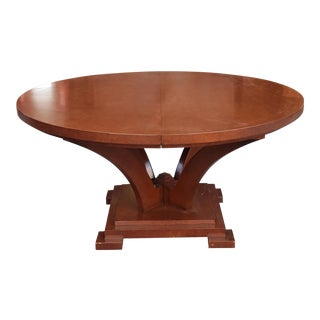 "Very Fine Peter Alexander Allegro Pedestal 60"" Diameter Round Dining Room Table W/ 1 Leaf For Sale"