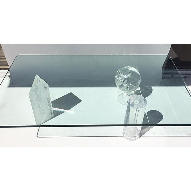 Contemporary Glass and Lucite Coffee Table - Image 3 of 6