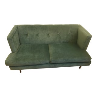CB2 Avec Brass Legs Apartment Sofa