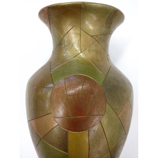 Unique Chinese Vintage Patchwork Ceramic Vase - Image 9 of 9