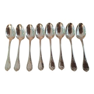 1980s Christolfe Marley Espresso Demitasse Spoons, France - Set of 8 For Sale