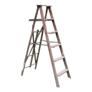 Vintage Wooden Painters Step Ladder For Sale