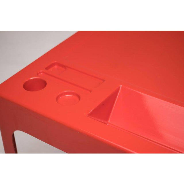1960s Red Fiberglass Desk by Marc Berthier For Sale - Image 5 of 8
