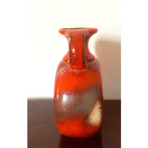 Vintage Orange Austrian Vase Chairish