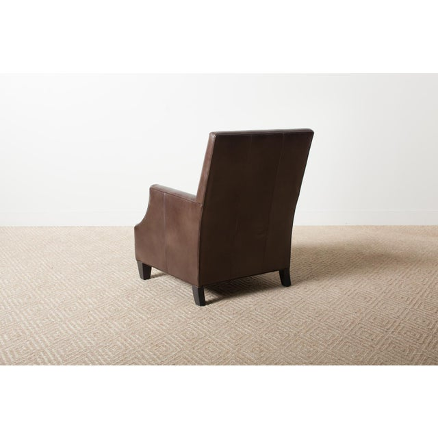 Contemporary Remy Leather Armchair For Sale - Image 3 of 6