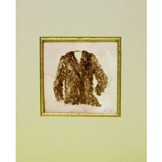 Brown Furry Coat Watercolor For Sale