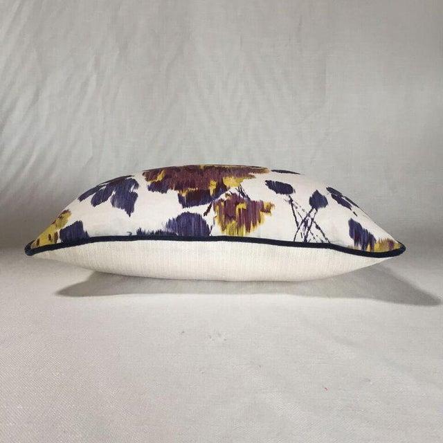 Contemporary Kim Salmela Purple Floral Pillow For Sale - Image 3 of 3