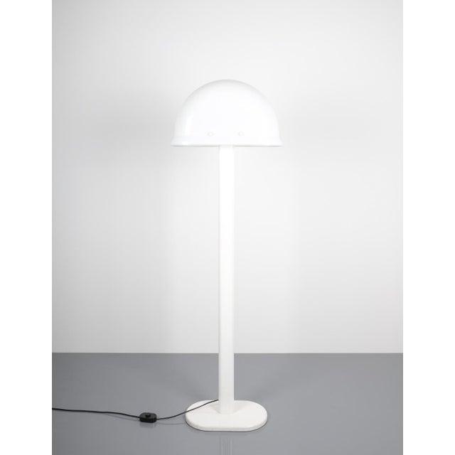 White Rodolfo Bonetto White Metal Lucite Floor Lamp Guzzini, Italy, 1970 For Sale - Image 8 of 9