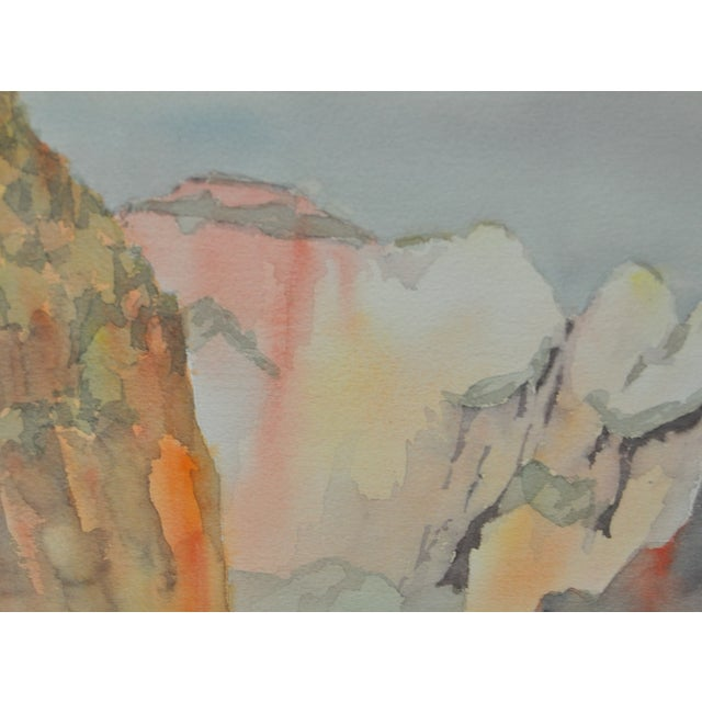 Western Mountain Landscape Watercolor C.1981 - Image 4 of 7