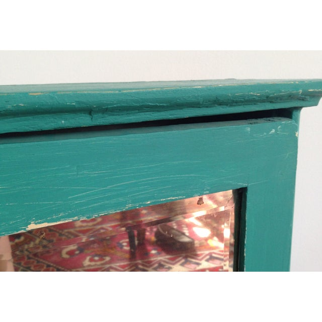 Teal Mirrored Medicine Cabinet, Storage Cabinet - Image 7 of 8