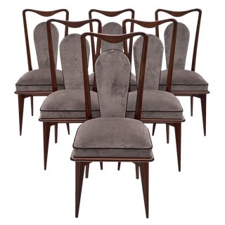 Mid-Century French Mahogany Dining Chairs For Sale