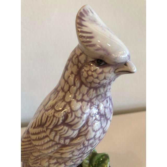 Italian Ceramic Palm Beach Cockatoo Birds - a Pair For Sale - Image 4 of 11