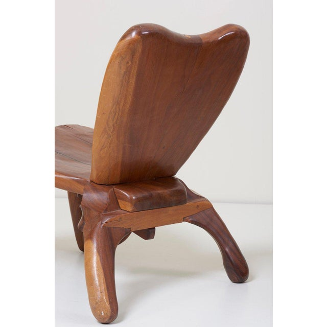 Wood Pair of Craft Wooden Studio Lounge Chairs by Don Shoemaker, Mexico, 1960s For Sale - Image 7 of 13