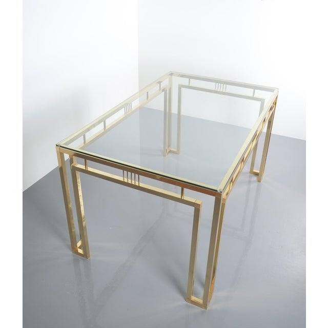 Romeo Rega Breakfast or Dining Table Brass Glass, Italy 1960 For Sale - Image 9 of 12