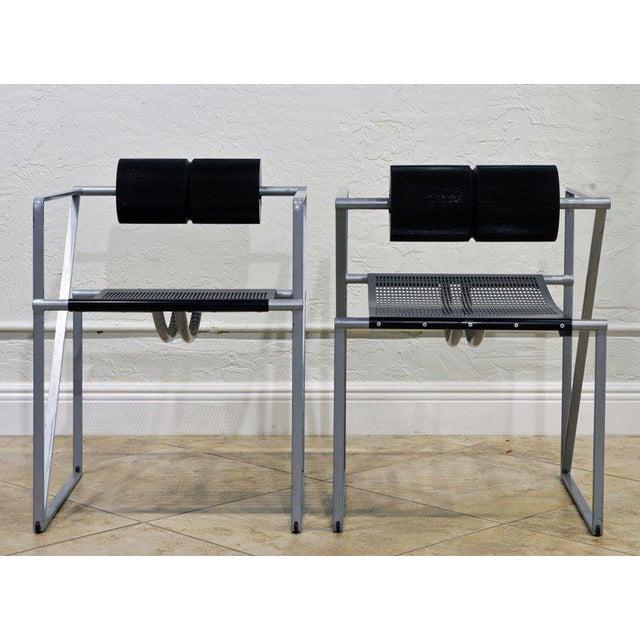 Alias Pair of Seconda 602 Armchairs Designed by Architect Mario Botta for Alias, Italy For Sale - Image 4 of 13