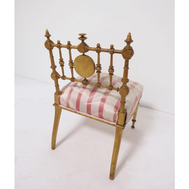 Late 1800s American Aesthetic Movement Giltwood Slipper Chair For Sale - Image 9 of 13