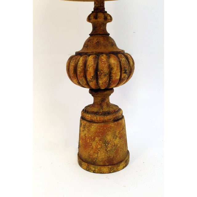 Mid-Century Modern Mid-Century Modern Pair of Michael Taylor for Chapman Gesso Stone Table Lamps For Sale - Image 3 of 11