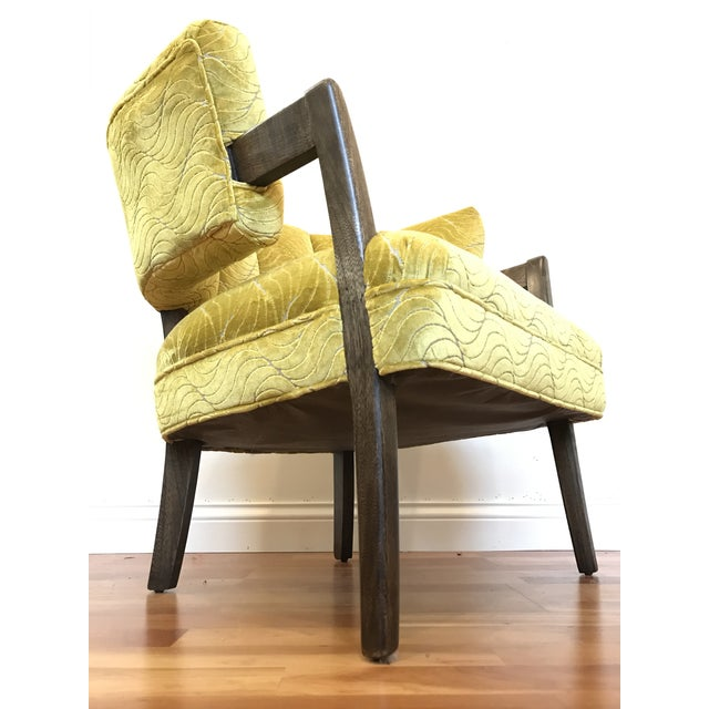 Green 1940s Vintage Billy Haines Era Channel Back Chair For Sale - Image 8 of 12