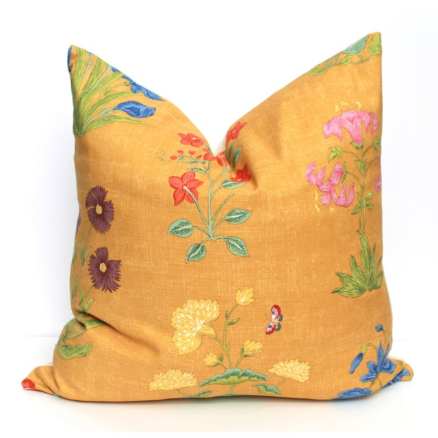 Yellow Botanical Pillow - Image 3 of 3