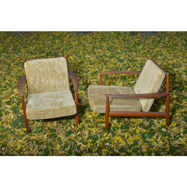 Mid-Century Danish Grete Jalk Lounge Chairs - A Pair - Image 3 of 7