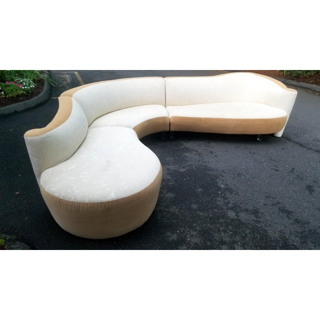 Serpentine Sectional Sofa by Vladimir Kagan for Weiman For Sale - Image 10 of 10