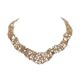 Napier Golden Tangles Necklace For Sale