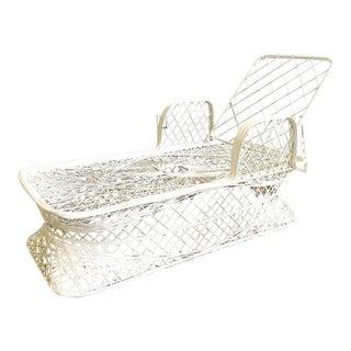 Vintage White Spun Fiberglass Chaise Lounge