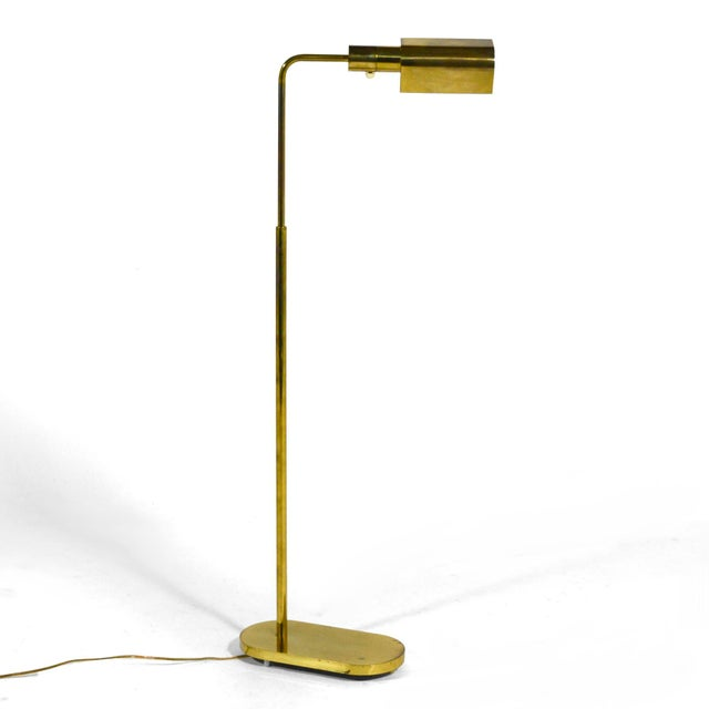 Casella Casella Adjustable Brass Pharmacy Floor Lamp For Sale - Image 4 of 11