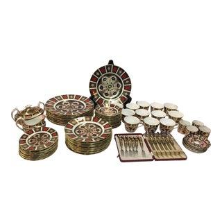 Royal Crown Derby Imari 81 Pieces For Sale