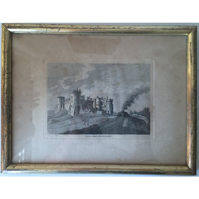 Antique Welsh Castles Engravings - Set of 3 - Image 4 of 7