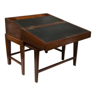 19th Century Mahogany Lap Desk on Later Stand