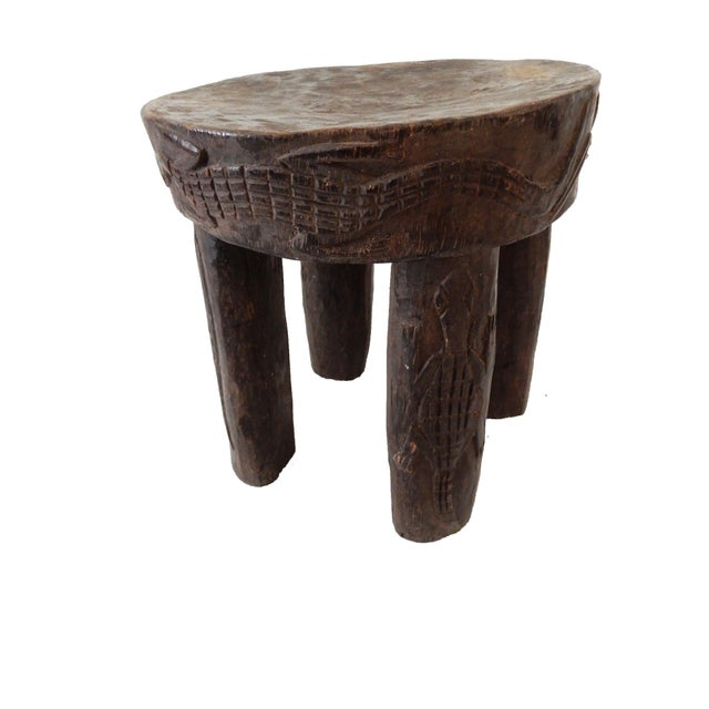 African Carved Milk Stool - Image 4 of 7