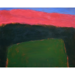 """Field Rising at Sunset"". Contemporary Abstract Painting by Stephen Remick For Sale"