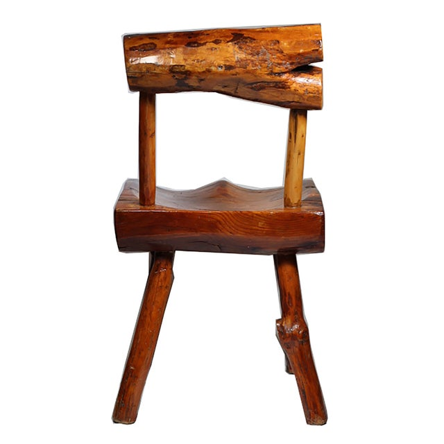 1940s Primitive Handmade Hickory Side Chair - Image 4 of 6