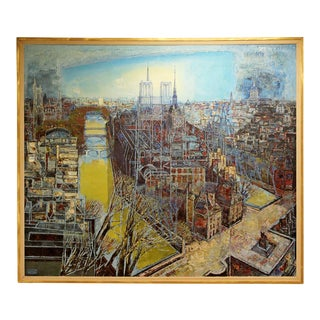 Mid-Century Modern Framed Impasto Painting by Edouard Mac Avoy, 1963 For Sale