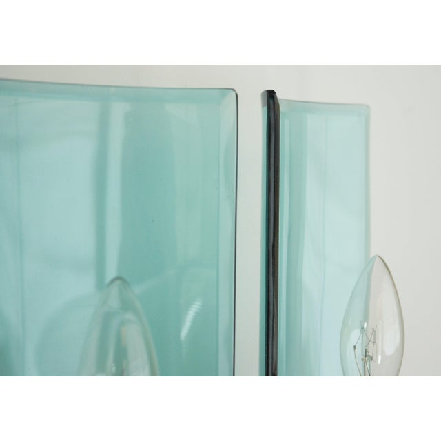 Transparent Cristal Arte Beveled Sconces (3 Available) For Sale - Image 8 of 12