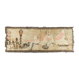 Distressed Velvet Tapestry Venice Italy Canals For Sale