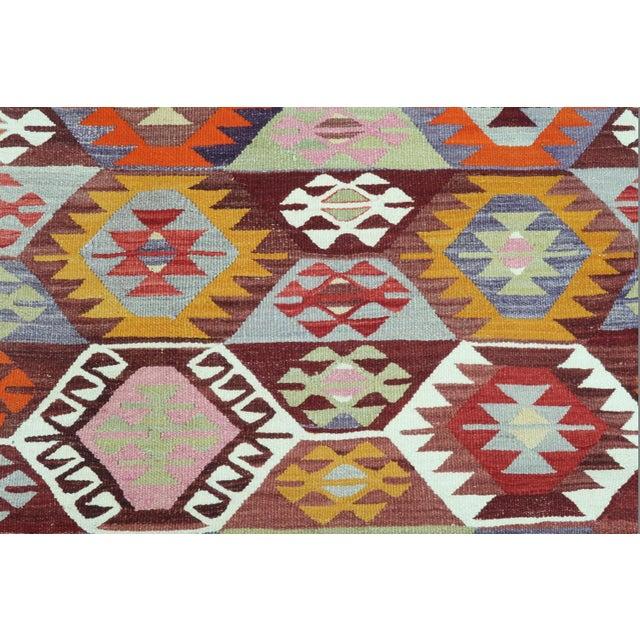 1960s Vintage Tavas Nomad's Flat Weave Rug For Sale - Image 6 of 12