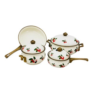 Vintage Enamel Cooking Set For Sale
