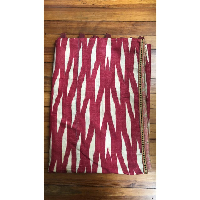 Rare and very beautiful vintage ikat textile. Made in the late 19th century.