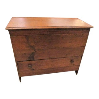 Blanket Chest Trunk Antique C 1800 For Sale