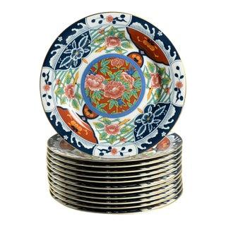 Vintage Gumps Kiku Dinner Plates - Set of 12 For Sale