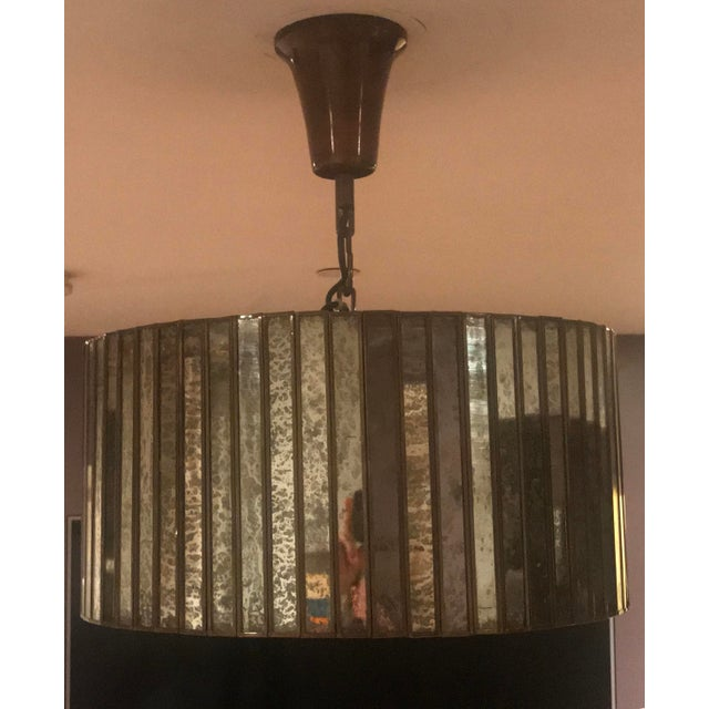 Contemporary Vitti Mirrored Drum Chandelier For Sale - Image 3 of 4