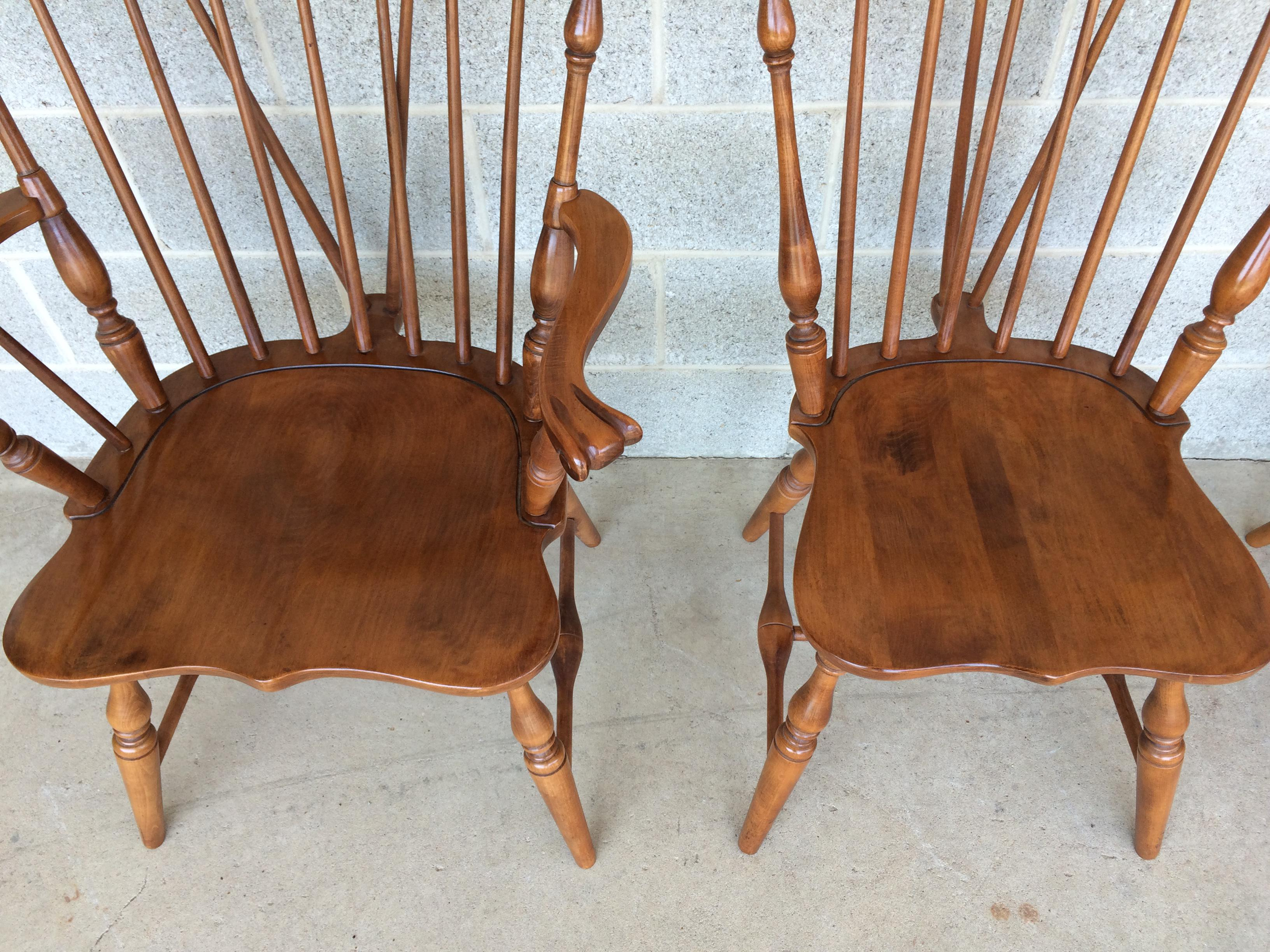 Beautiful Tell City Maple Windsor Brace Back Dining Chairs   Set Of 6   Image 3 Of